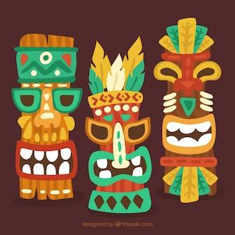 Kolorowe maski etniczne