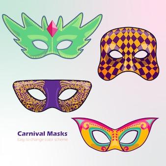 Kolorowe maski karnawałowe
