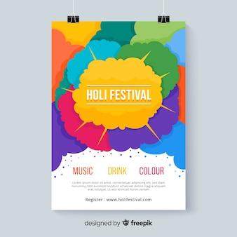 Kolorowe miejsca festiwalu plakat holi