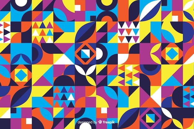 Kolorowe mozaiki geometryczne kształty tło
