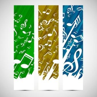 Kolorowe nagłówki muzyczne