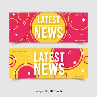Kolorowe najnowsze wiadomości banery