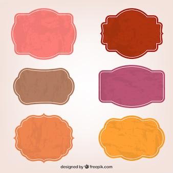 Kolorowe naklejki etykiety