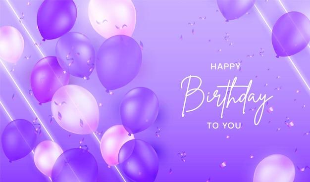 Kolorowe neonowe tło urodzinowe