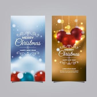 Kolorowe niewyraźne banery świąteczne