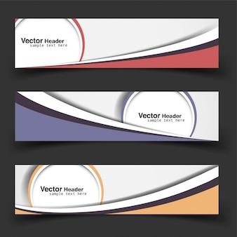 Kolorowe nowoczesne banery