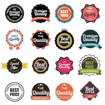Kolorowe odznaki kolekcji