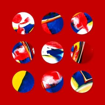 Kolorowe odznaki sztuka abstrakcyjna