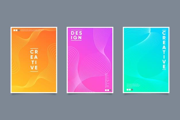 Kolorowe okładki w stylu abstrakcyjnym