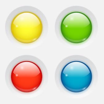 Kolorowe okrągłe guziki