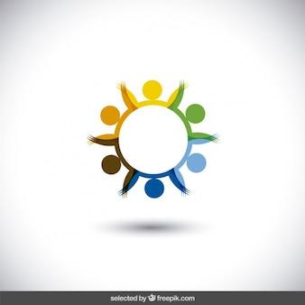 Kolorowe okrągłe logo