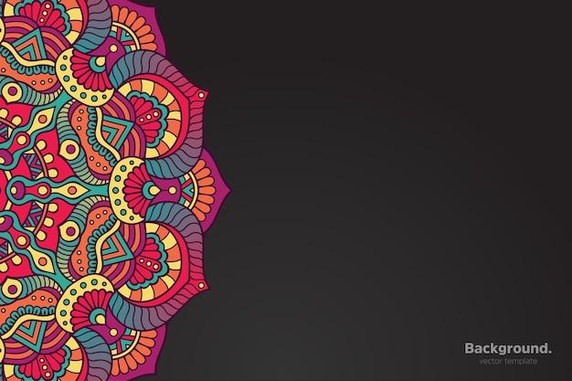 Kolorowe orientalne tło mandali