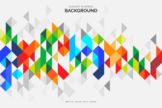 Kolorowe otoczenie biznesu z geometrycznymi kształtami