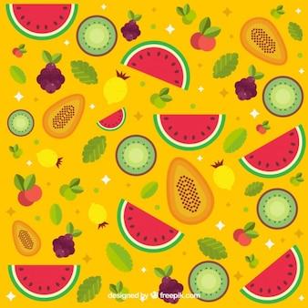 Kolorowe owoce w tle