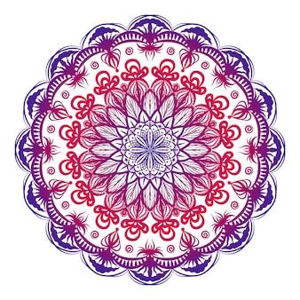 Kolorowe ozdobne mandali