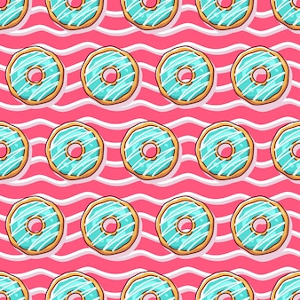 Kolorowe pączki ilustracja wzór