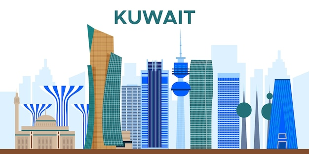 Kolorowe panoramę kuawit