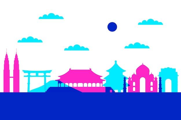 Kolorowe panoramę zabytków