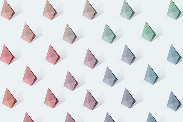 Kolorowe papierowe rzemiosło w kształcie diamentu wzorzyste tło