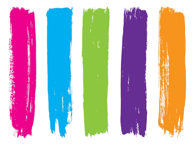 Kolorowe paski farby