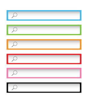 Kolorowe paski narzędzi wyszukiwania