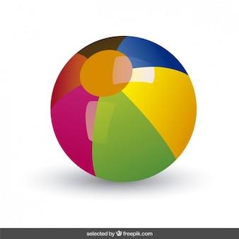 Kolorowe piłki plażowej