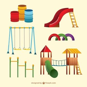 Kolorowe plac zabaw huśtawki