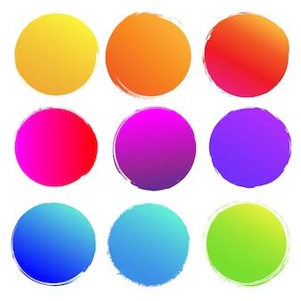 Kolorowe plamy duży zestaw na białym tle białe tło, ilustracja