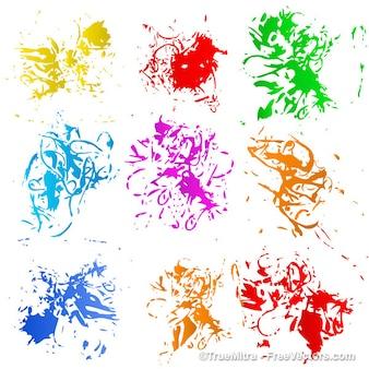Kolorowe plamy z zestawu tekstur