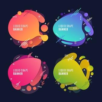 Kolorowe płynne banery
