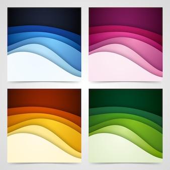 Kolorowe płynne i geometryczne tło z płynnymi kształtami gradientu