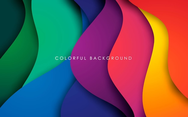 Kolorowe płynne tło. dynamiczny teksturowany element geometryczny. nowoczesna ilustracja światła gradientu.