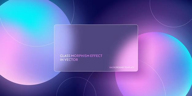 Kolorowe płynne tło gradientowe z morfizmem szkła. wektor szablon futurystyczny modny projekt transparent, plakat 3d, minimalizm neon okładka, ulotka rozmycie szkła. geometryczna strona internetowa, błyszczące tło interfejsu