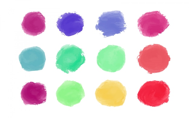 Kolorowe pociągnięcia pędzlem akwarela