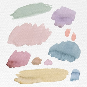 Kolorowe pociągnięcia pędzlem akwarelowym
