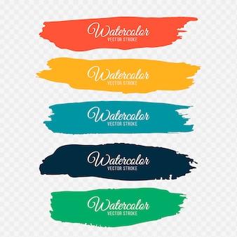 Kolorowe pociągnięcia pędzlem