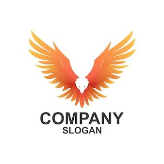 Kolorowe pomysły na logo orzeł