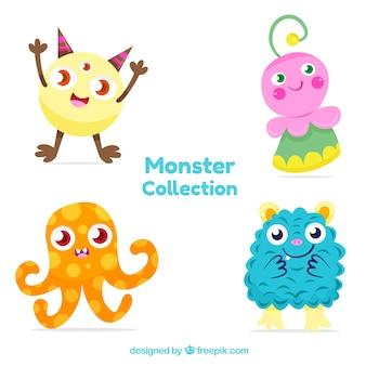 Kolorowe postacie potworów