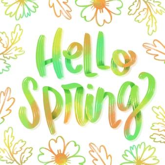 Kolorowe powitanie wiosna napis
