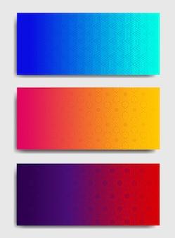 Kolorowe poziome szablony tła.