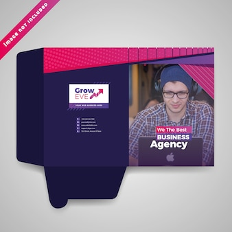 Kolorowe prezentacja psd folder design