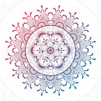 Kolorowe projekt mandali
