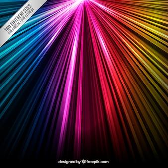 Kolorowe promienie tła