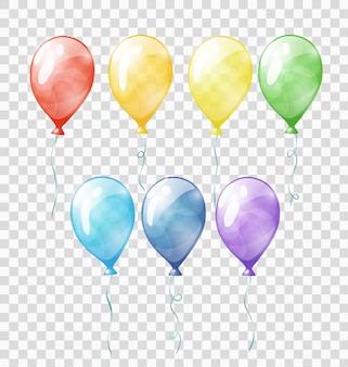 Kolorowe przezroczyste balony
