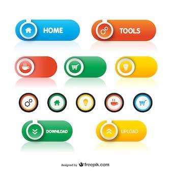 Kolorowe przyciski spakować