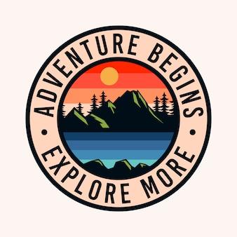 Kolorowe przygody zaczyna logo odznaka