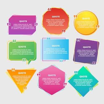 Kolorowe pudełko z cytatem w kolorze gradientu