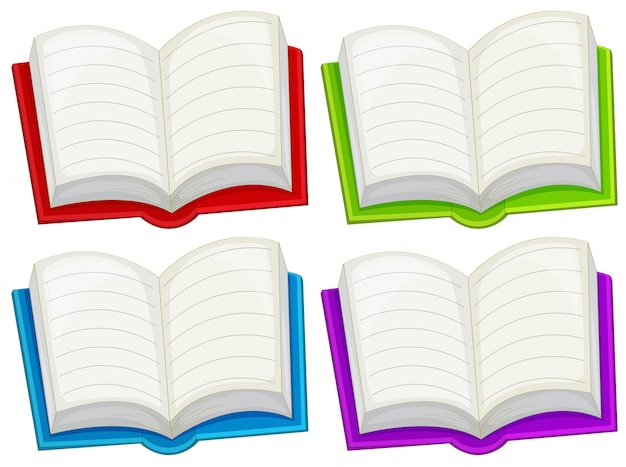 Kolorowe puste książki
