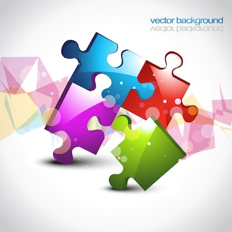 Kolorowe puzzle eps10 wektor grafiki t? a projektowania
