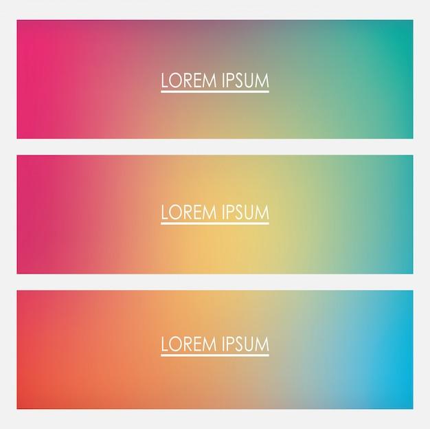 Kolorowe ramki gradientu tła z miejscem na tekst